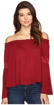 Brigitte Bailey Sula Off the Shoulder Top with Lace Inset
