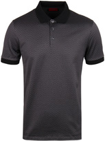 Hugo Devron Grey Geometric Print Short Sleeve Polo Shirt