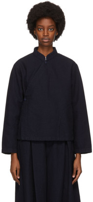 Blue Blue Japan Navy Yarn-Dyed Sashiko Jacket