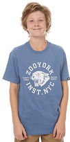 Zoo York New Boys Kids Boys Pounce Tee Crew Neck Short Sleeve Cotton Blue