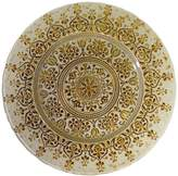 Ten Strawberry Street 10 Strawberry Street Set of 4 Monaco Glass Charger Plates - Silver/Gold