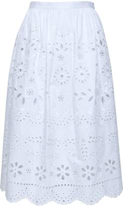 RED Valentino Broderie Anglaise Midi Skirt