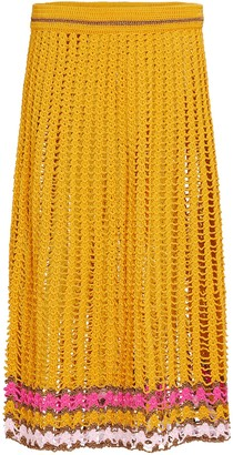 My Beachy Side Crochet Midi Skirt