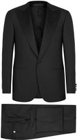 Corneliani Black Super 160's Wool Tuxedo Suit