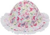 M&Co Butterfly print frill sun hat