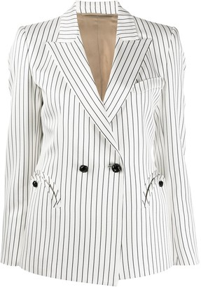 BLAZÉ MILANO Striped Double-Breasted Blazer