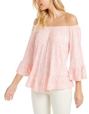 Style&Co. Style & Co Printed Off-The-Shoulder Top, Created for Macy's