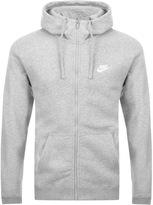 Nike Club Zip Hoodie Grey