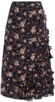 Rochas Floral Ruffle Skirt