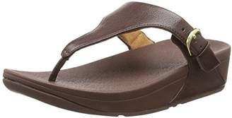 FitFlop Women Skinny Toe Thong Leather Heels Sandals,(39 EU)