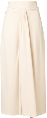 The Row Draped Midi Skirt