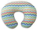 Boppy Infant Feeding/Support Pillow with Colorful Chevron Slipcover