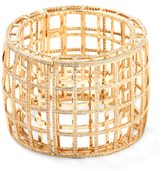 Maiyet 18K Yellow Gold & 19.00 Total Ct. Diamond Cage Bangle Bracelet
