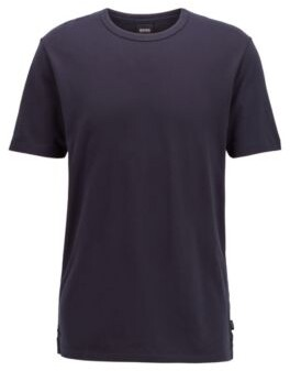 Crew-neck T-shirt in cotton piqu