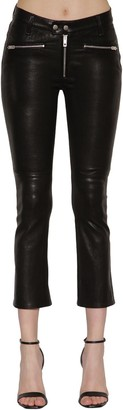 Rag & Bone Braxton Mid Rise Zipped Leather Pants