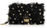Anya Hindmarch Coal Tinsel Carker Clutch with Bells