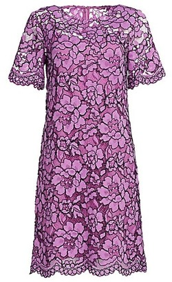 Lela Rose Corded Lace Tunic Dress