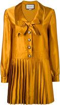 Gucci pleated long sleeve dress - women - Silk/Acetate - 40