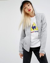Le Coq Sportif Logo Zip Through Hoodie