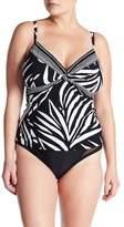 La Blanca Swimwear Sevilla Drape Tankini (Plus Size)