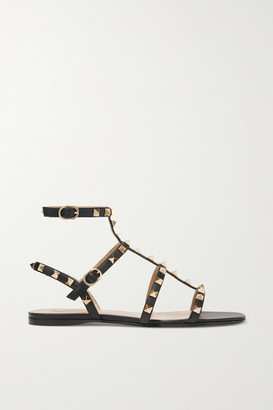 Valentino Garavani Rockstud Leather Sandals - Black