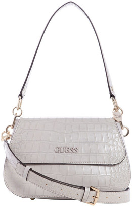 GUESS CG774818GRY Triple G Demi Flap Over Shoulder Bag