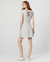 Le Château Cotton Blend Open Back Dress