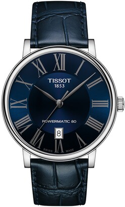 Tissot T-Classic Carson Powermatic 80 Leather Strap Watch, 40mm