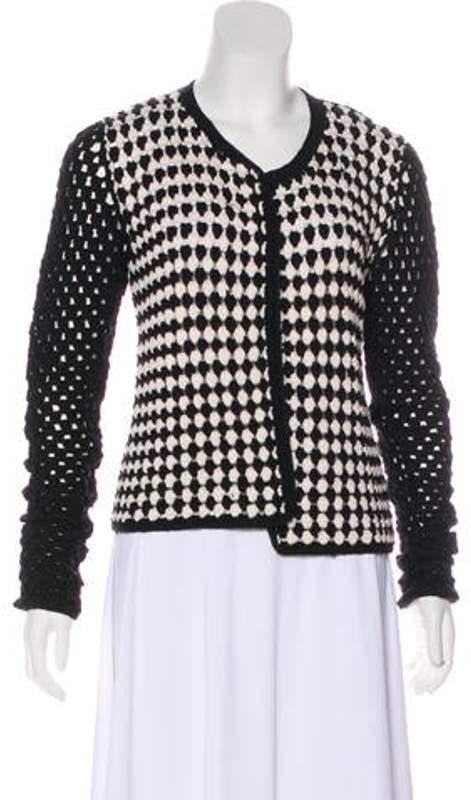 Missoni Wool Crochet Cardigan Black Wool Crochet Cardigan