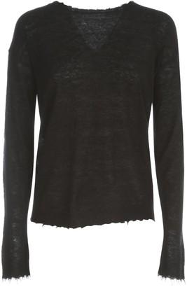 Stefano Mortari Alpaca Crew Neck Sweater W/little Fringes