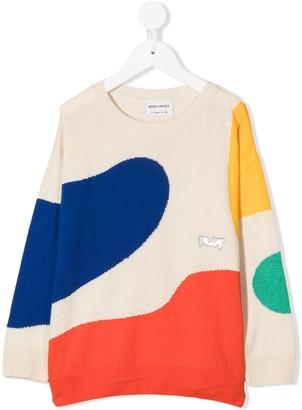 Bobo Choses Colour-Block Print Sweatshirt