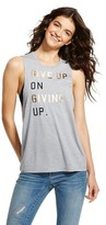CHIN UP Apparel Women's' Give Up On Giving Up Chin Up Top Heather Grey