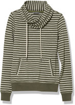 L.L. Bean Signature Funnel-Neck Sweatshirt, Stripe