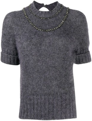 No.21 Short-Sleeve Knitted Top