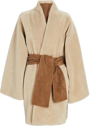 Dundas Reversible Shearling Wrap Coat
