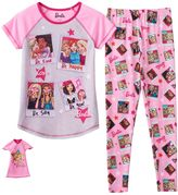 Girls 4-10 Barbie Friends & Doll Pajama Set