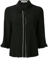 L'Autre Chose cropped sleeves shirt - women - Silk - 46