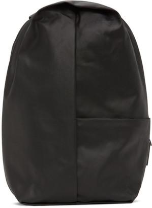Côte and Ciel Black Coated Canvas Sormonne Backpack