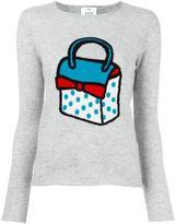Allude bag intarsia jumper - women - Cashmere - M