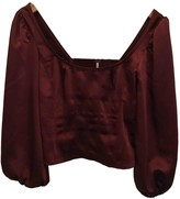 Free People Burgundy Polyester Tops