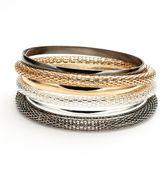 Apt. 9 Tri-Tone Mesh Bangle Bracelet Set