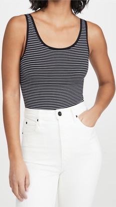 Yummie Ruby Scoop Neck Bodysuit With Stripes