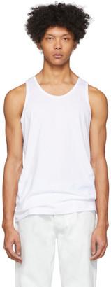 Comme des Garçons Shirt White Plain Tank Top