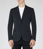 Reiss Eagle Patch Pocket Blazer