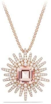 David Yurman Starburst Pendant Necklace With Diamonds And Morganite