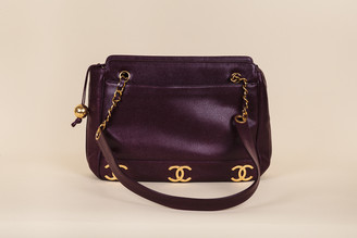 Chanel Vintage Caviar Leather CC Tote