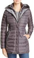 Vince Camuto Contrast Trim Down Coat
