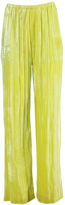 Balenciaga Crushed Velvet Pants Citrus Yellow