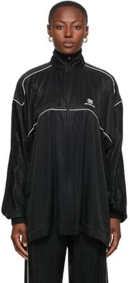 Balenciaga Black Houndstooth Track Jacket