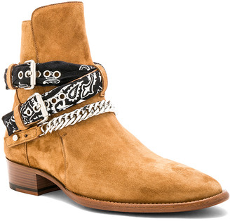 Amiri Bandana Buckle Boot in Brown | FWRD